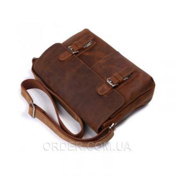 Коричневый кожаный мужской мессенджер Tiding Bag (6002B-1)
