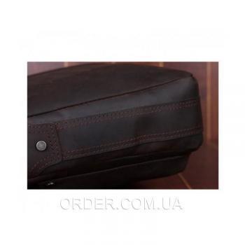 Коричневая кожаная мужская сумка Tiding Bag (t1096)