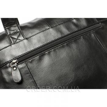 Черная кожаная мужская сумка Bexhill (Bx9005A)