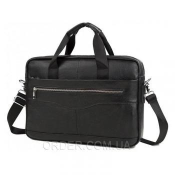 Черная мужская кожаная сумка Bexhill (Bx1128A)
