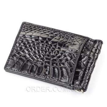 Зажим для купюр из натуральной кожи крокодила (18050)