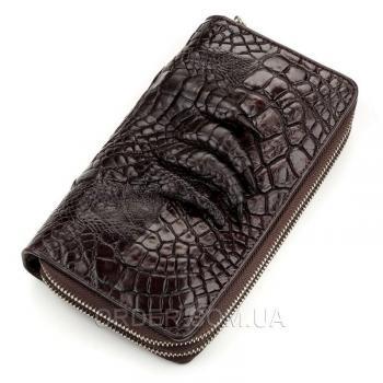 Кошелек-клатч из натуральной кожи крокодила (18173)