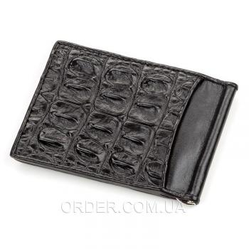 Зажим для купюр из натуральной кожи крокодила (18169)