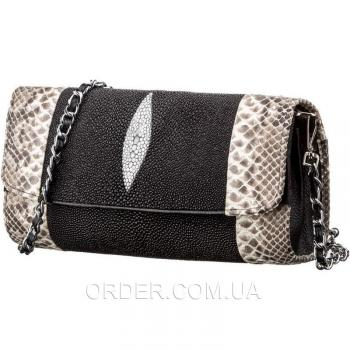 Женская сумка-клатч из натуральной кожи морского ската (18219)